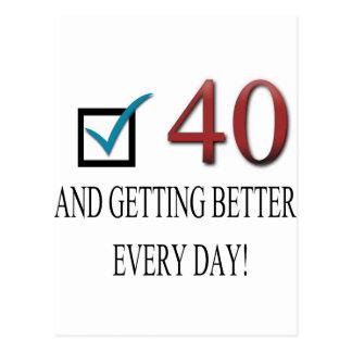 40.o cumpleaños feliz postal