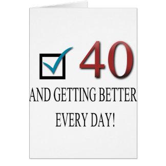 40 o cumpleaños feliz tarjetón