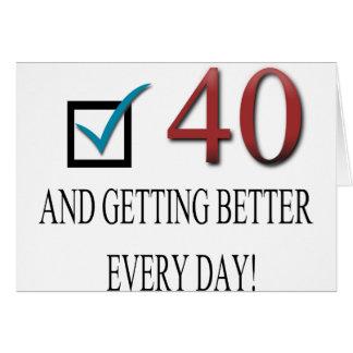 40 o cumpleaños feliz tarjeton