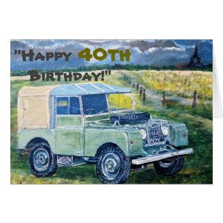 """¡""""40.o cumpleaños feliz! """" tarjeta de felicitación"""