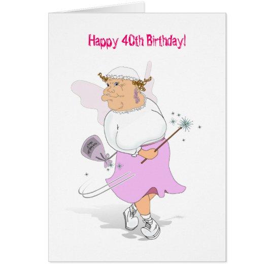 ¡40.o cumpleaños feliz! tarjeta de felicitación
