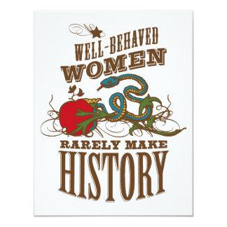 40.o cumpleaños - la mujer salvaje hace historia invitación 10,8 x 13,9 cm