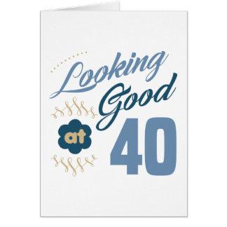 40.o cumpleaños que parece bueno tarjeta