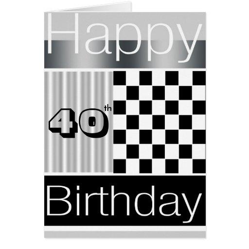 40.o Cumpleaños Tarjetón