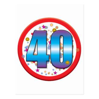 40.o Cumpleaños v2 Tarjeta Postal