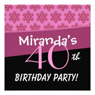 40 o El cumpleaños para su estrella rosada florece Anuncios
