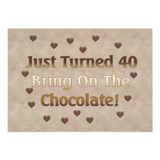 40.o El cumpleaños significa el chocolate Comunicado Personal