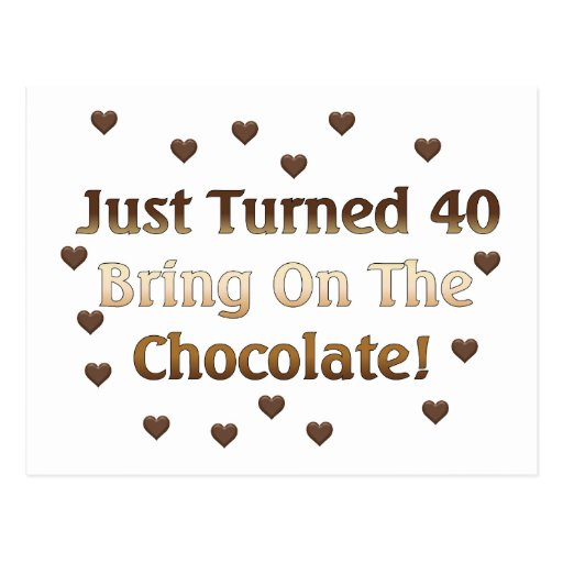 40.o El cumpleaños significa el chocolate Tarjetas Postales