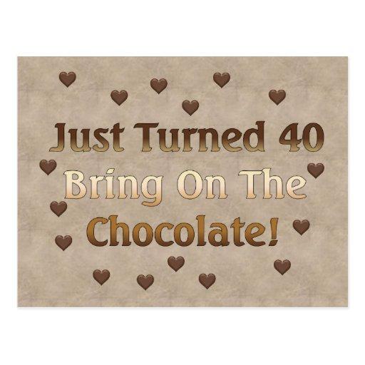 40.o El cumpleaños significa el chocolate Postales