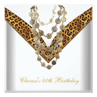40.o El leopardo del oro de la fiesta de Invitaciones Personalizada