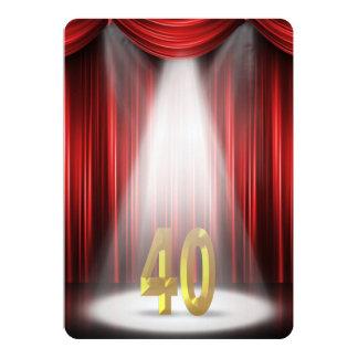 40.o Fiesta de aniversario del boda Invitación 12,7 X 17,8 Cm