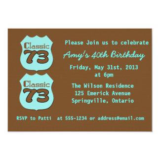 40.o Fiesta de cumpleaños Invitación 12,7 X 17,8 Cm