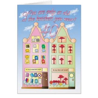 40 o humor de la tarjeta de cumpleaños