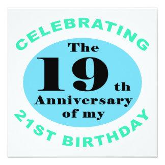 40.o Humor del cumpleaños Invitación 13,3 Cm X 13,3cm