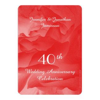 40.o Invitación de la fiesta de aniversario del Invitación 12,7 X 17,8 Cm