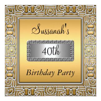 40.o Invitación de la fiesta de cumpleaños