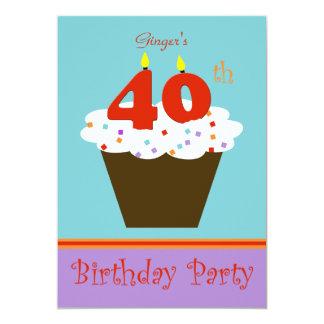 40.o Invitación de la fiesta de cumpleaños 40