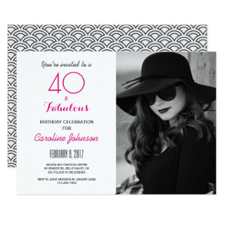 40.o Invitación de la fiesta de cumpleaños - 40 y