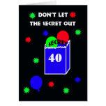 40.o Invitación de la fiesta de cumpleaños de la s Tarjeta