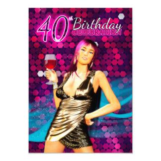 40.o Invitación de la fiesta de cumpleaños - DES