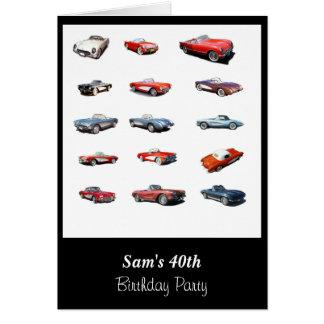 40.o Invitación de la tarjeta de cumpleaños