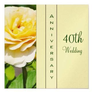 40.o Invitación del aniversario de boda