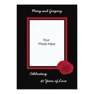 40.o Invitación del aniversario de boda -- Foto Invitación 12,7 X 17,8 Cm