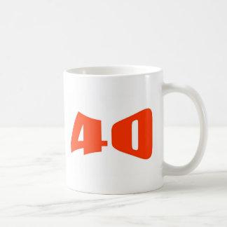 40.o Invitación del aniversario Taza De Café