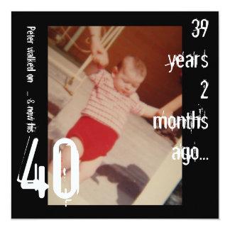 40.o Invitación del cumpleaños