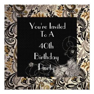 40 o Invitación del cumpleaños de las mujeres