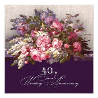 40 o Invitaciones de la fiesta de aniversario del Comunicado Personal