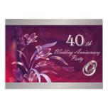 40.o Invitaciones de la fiesta de aniversario del Comunicado Personal