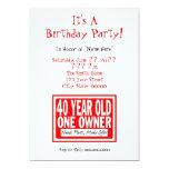 40.o Invitaciones de la fiesta de cumpleaños Comunicados