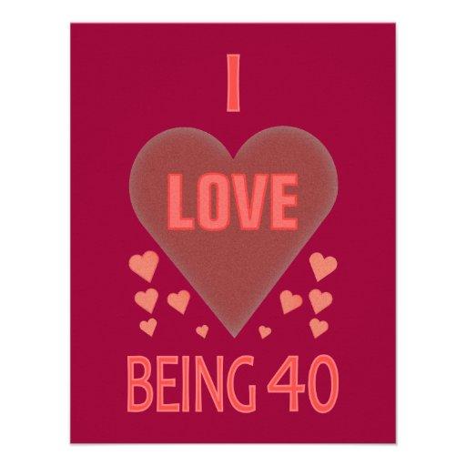 40.o Invitaciones de la fiesta de cumpleaños Anuncios