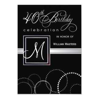 40.o Invitaciones de la fiesta de cumpleaños - con Invitación 12,7 X 17,8 Cm