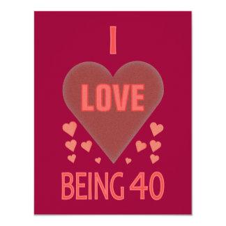40.o Invitaciones de la fiesta de cumpleaños Invitación 10,8 X 13,9 Cm
