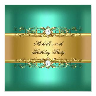 40.o Joya del diamante del oro verde de jade de la Invitación 13,3 Cm X 13,3cm
