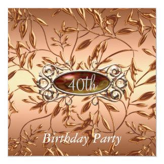 40.o La invitación de la fiesta de cumpleaños sale