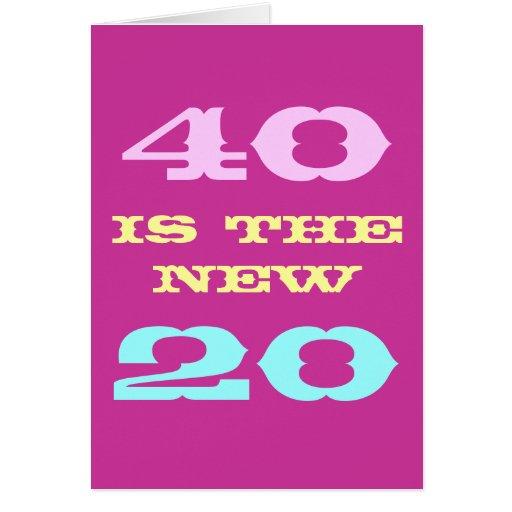 40.o La tarjeta de cumpleaños para las mujeres el