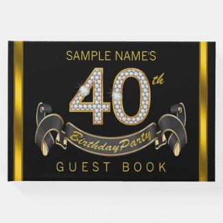40.o Libro de visitas de la fiesta de cumpleaños