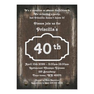 40.o, mujer de la fiesta de cumpleaños, cualquier invitación 12,7 x 17,8 cm