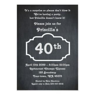 40.o, mujer de la fiesta de cumpleaños, mujer invitación 12,7 x 17,8 cm