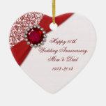 40.o Ornamento del aniversario de boda