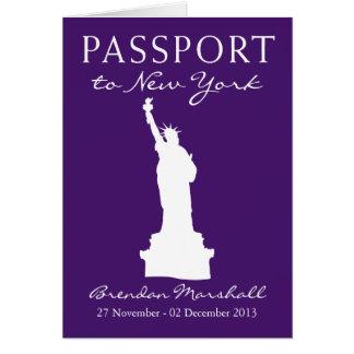 40.o pasaporte del cumpleaños de New York City Tarjeta Pequeña