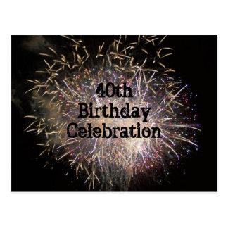 40.o Postal de la celebración del cumpleaños