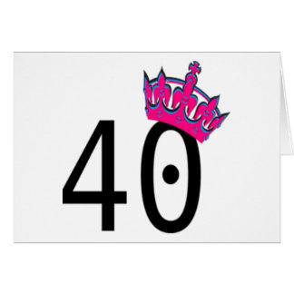 40.o Princesa del cumpleaños Tarjeta De Felicitación