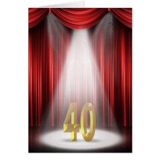 40.o Proyector del cumpleaños Tarjeta De Felicitación