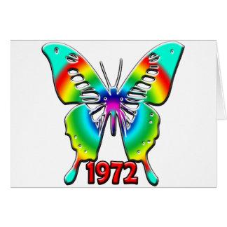 40 o Regalos de cumpleaños 1972 Tarjetas