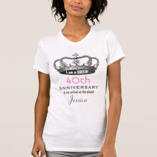40.o Reina V13A DIVERTIDO del cumpleaños del Camiseta