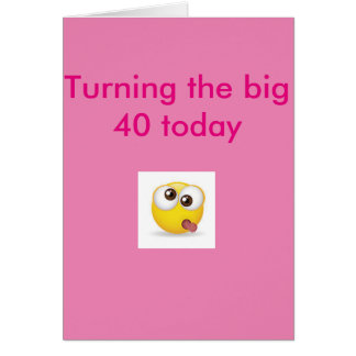 40.o rosa de la tarjeta de cumpleaños de la cara